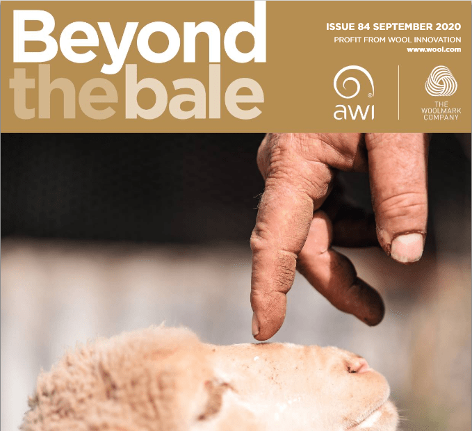 Cropped image of front cover of the Sep 2020 issue of Beyond the Bale magazine