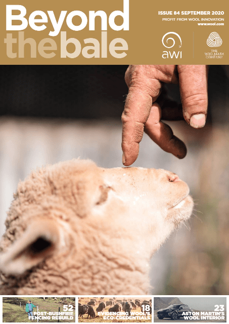 Front cover of the Sep 2020 issue of Beyond the Bale magazine